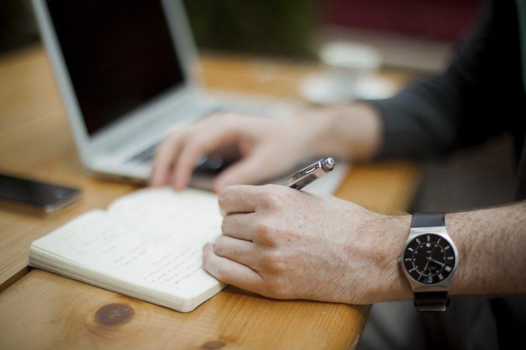 écrit, poste de travail, bureau