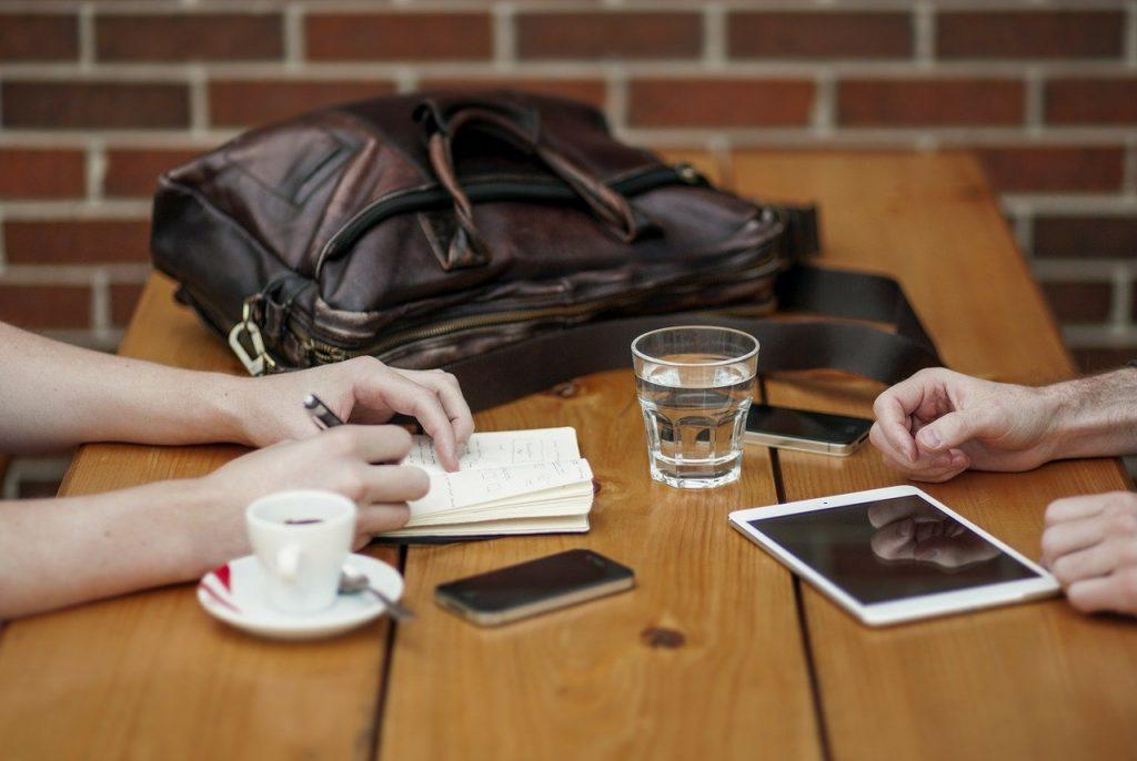 bureau, réunion, partenaires d'affaires