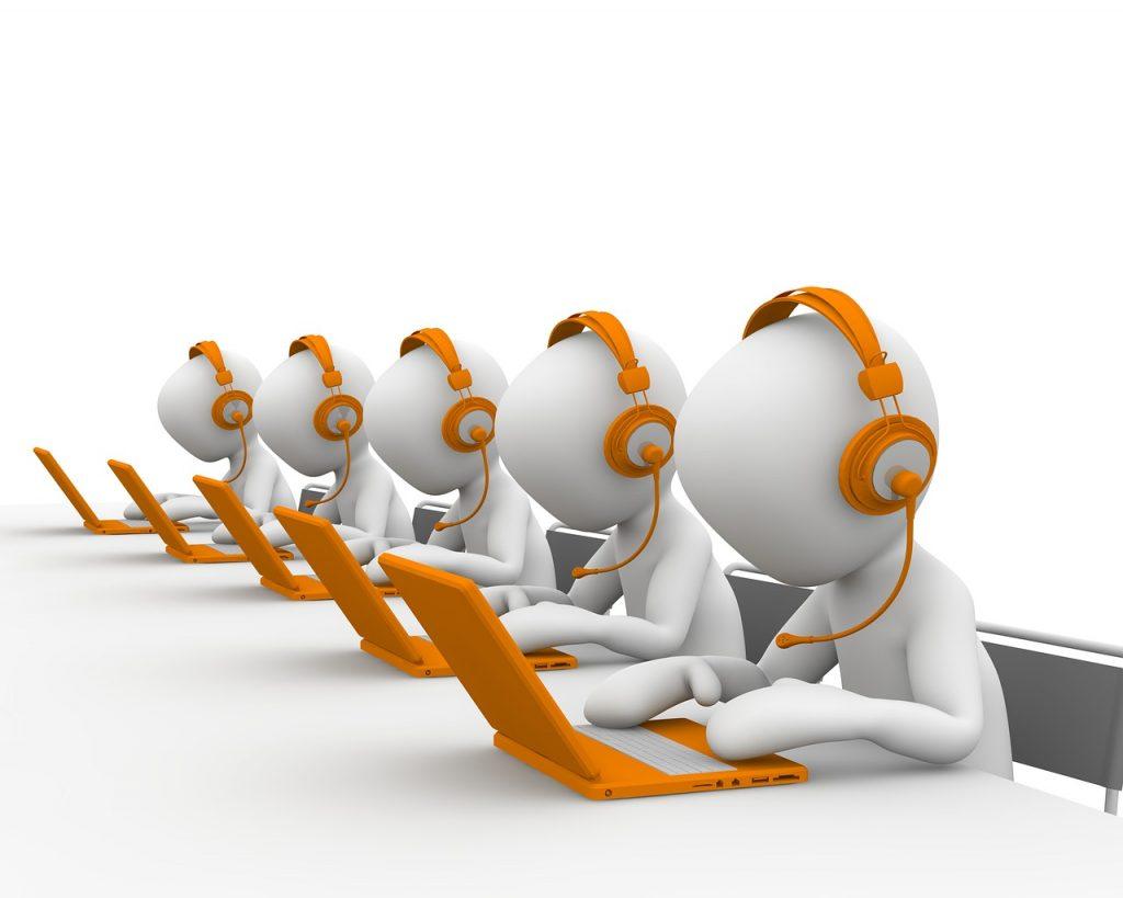 centre d'appel, téléphoner, service